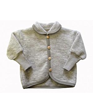 Кофта на младенца трикотажная из шерстяного флиса  без капюшона на пуговицах COSILANA (Козилана) 100% шерсть (флис)