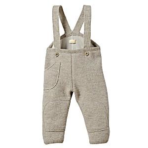 Штаны детские на лямках из свалянной 100% шерсти с подкладкой из хлопка Disana Дисана