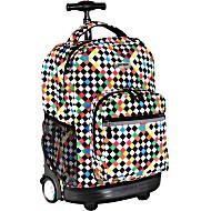 Универсальный школьный рюкзак на колесах JWORLD Sunrise арт. RBS18 Шашки