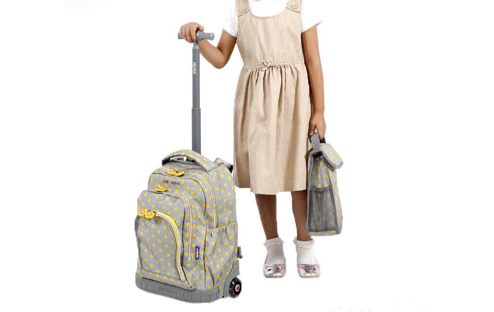 Школьный рюкзак на колесах JWORLD SUNNY Зоопарк, - фото 6