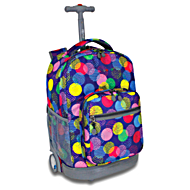 Универсальный школьный рюкзак на колесах JWORLD Sunrise арт. RBS18 Speckle Navy