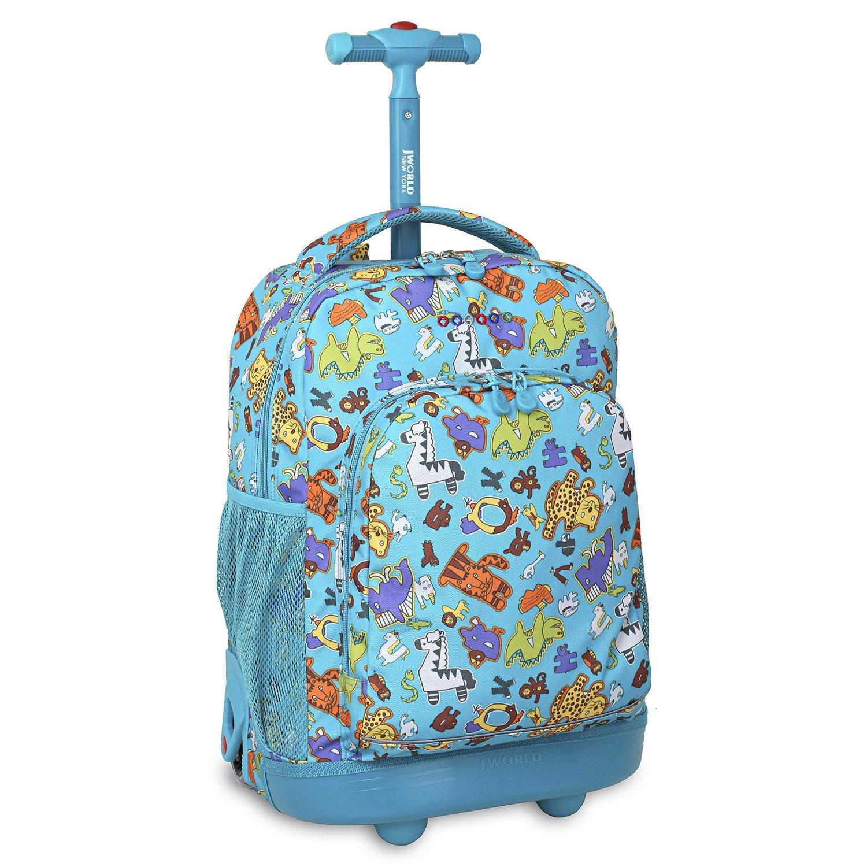 Школьный рюкзак на колесах JWORLD SUNNY Зоопарк, - фото 1