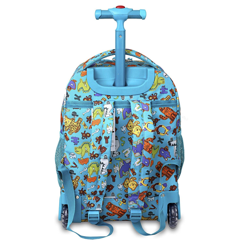 Школьный рюкзак на колесах JWORLD SUNNY Зоопарк, - фото 3