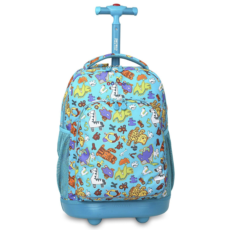 Школьный рюкзак на колесах JWORLD SUNNY Зоопарк, - фото 2