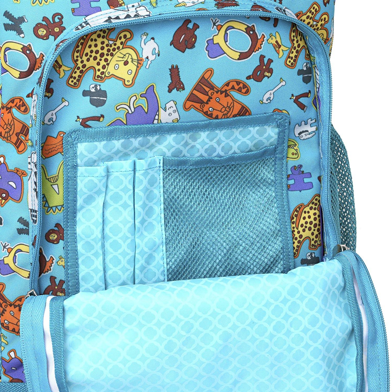 Школьный рюкзак на колесах JWORLD SUNNY Зоопарк, - фото 4