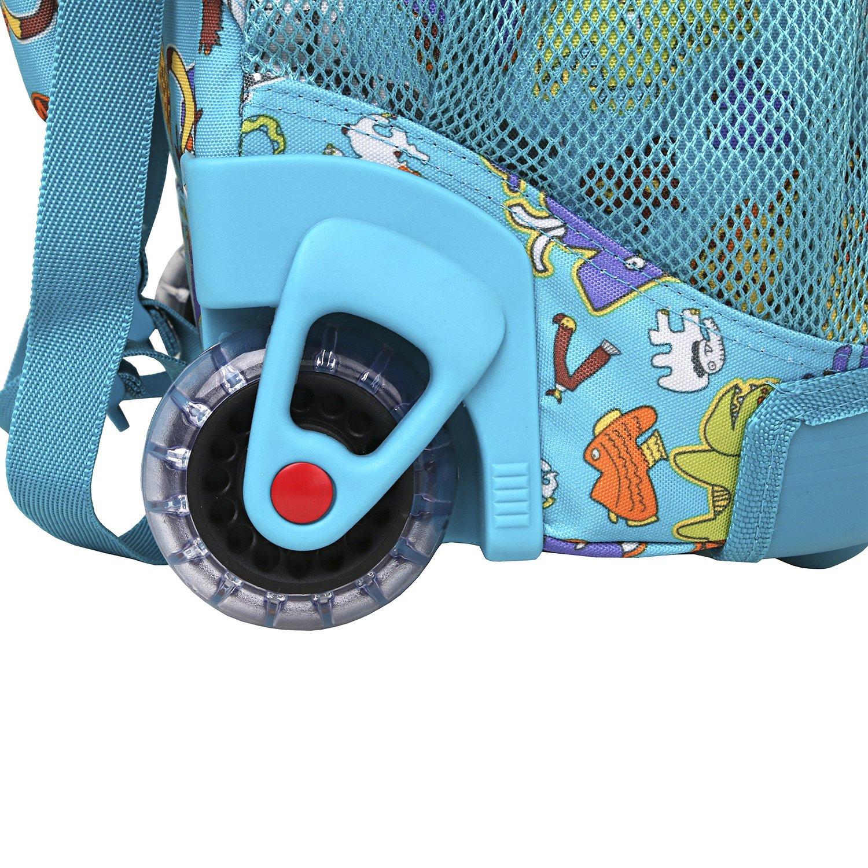 Школьный рюкзак на колесах JWORLD SUNNY Зоопарк, - фото 5